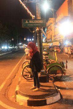 Yogyakarta, Indonesia. Malioboro street