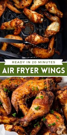 Marinated Chicken Wings, Grilled Wings, Bbq Chicken Wings, Chicken Wings Airfryer, Easy Baked Chicken Wings, Air Fryer Recipes Chicken Wings, Best Chicken Wing Recipe, Chicken Wing Recipes, Air Fryer Dinner Recipes