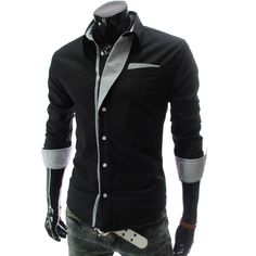Приталенные мужские рубашки в интернет магазине – поло, стильные, под запонки, модные 2015 года | Также у нас можно купить мужскую рубашку, с длинным рукавом, с высоким воротником, черные, сорочки с двойным воротником, а также в продаже розовая, клетчатая в клетку, красная