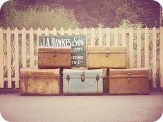 vintage luggage. <3