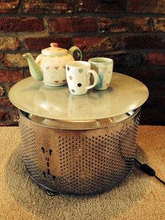 Upcycled Washing Machine Drum Coffee Table By TheFunkitureFarm