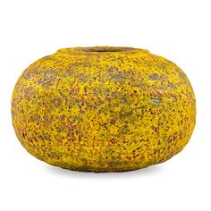 POLIA PILLIN (1909 - 1992) Vessel with fine yellow and red volcanic glaze, Los Angeles, CA