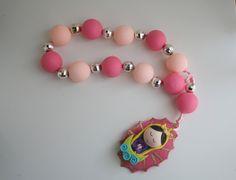 Virgencita Large Decorative Pink Rosary. $16.00, via Etsy.