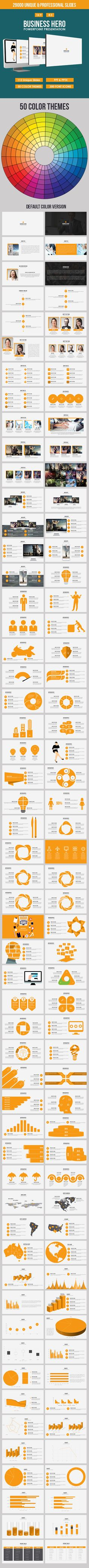 Business Hero Powerpoint Presentation Template  #infographics #advertisement…
