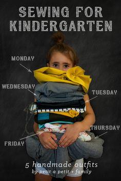 I SEW: Sewing For Kindergarten//petitapetitandfamily.com
