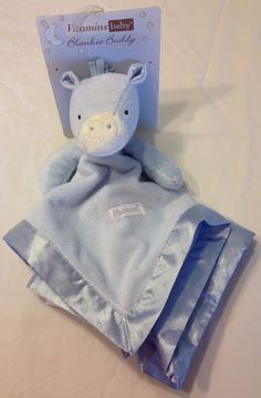LOVEY New Vitamins Baby Blue Pony Horse Security Blanket Blankie Buddy Boys NuNu #VitaminsBaby