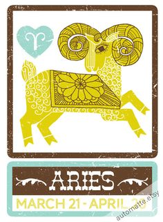 zodiac print by automatte on etsy best zodiac sign, zodiac signs ari Best Zodiac Sign, Zodiac Signs Aries, Zodiac City, Aries Astrology, Aries Horoscope, Chinese Zodiac Rat, Chill Songs, Aries Birthday, All About Aries