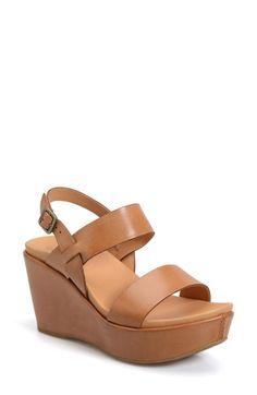 Kork-Ease® 'Austin' Slingback Wedge Sandal (Women) available at #Nordstrom