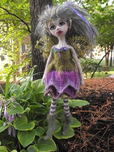 Adirondacks Fairy. Hand knit by Jeanne Lawrence
