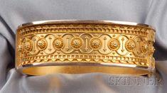 Gold Wedding Jewelry, 18k Gold Jewelry, Gemstone Jewelry, Gold Bangles Design, Jewelry Design, Victorian Jewelry, Antique Jewelry, Greek Jewelry, Ancient Jewelry