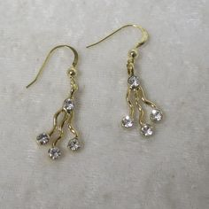 Jendi drop diamante earrings