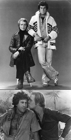 Starsky & Hutch, television's first bromance Tv Vintage, Paul Michael Glaser, David Soul, Tv Detectives, Starsky & Hutch, Hollywood, Old Shows, Great Tv Shows, Classic Tv