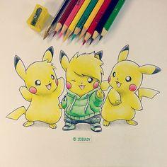 Call it artistic boredom. Pokemon Go, Pokemon Sketch, Cute Pokemon, Beautiful Drawings, Cute Drawings, Pencil Drawings, Steven Universe, Pikachu Drawing, Ninja Art