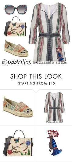 """Alice+Olivia outfit"" by subvilli on Polyvore featuring Alice + Olivia, Summer, espadrilles, aliceandolivia, polyvoreeditorial and polyvorefashion"