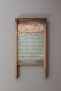 Vintage washboard as wall art