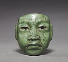 """Miniature Mask"" (ca. 900-400 BCE). Olmec civilization, Mexico. Posted on clevelandart.org."