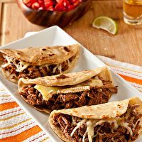 Brie and Brisket Tacos with Mango Barbecue Sauce by The Pastry Queen