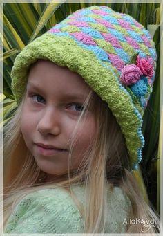 Rose Buds Crocheted Hat Pattern/eBook Sizes by mylittlecitygirl