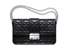 """Large """"Dior New Lock"""" pouch in black patent leather"""