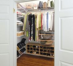 Basic steps for giving your wardrobe a good spring cleaning. Step 1, create great closet to store your stuff.