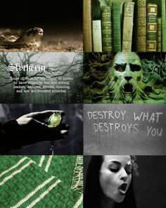 Hogwarts Aesthetics ~ Slytherin (Harrypottersection.tumblr.com)