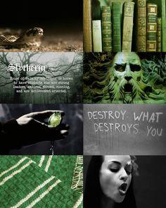Hogwarts Aesthetics ~ Slytherin (Harrypottersection.tumblr.com)