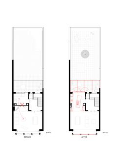 Dierendonckblancke architects - Renovation of a terraced house - Ghent