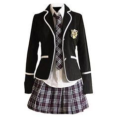 Designer Clothes, Shoes & Bags for Women School Uniform Outfits, Cute School Uniforms, School Dresses, Japanese Fashion, Korean Fashion, Mode Grunge, Japanese School Uniform, Kawaii Clothes, Character Outfits