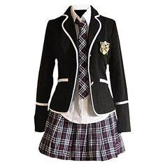 Partiss Maedchen Sweet Japan Schuluniform Fancy Dress Kleid Cosplay Anime Langarm Anzug Mantel Bluse mit Faltenrock Partiss http://www.amazon.de/dp/B01A8IMTL6/ref=cm_sw_r_pi_dp_EEoJwb16S95CB