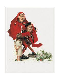 Large Fine Art Print  CHRISTMAS Twins by StudioJBMongeGoblin