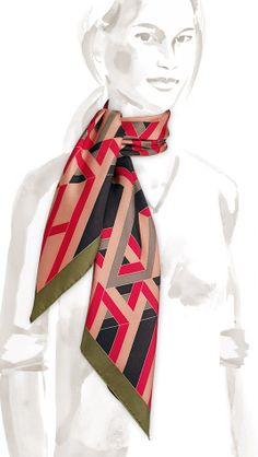 Hermes - Carre Cube, Silk Scarf - Pic1