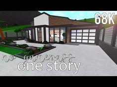 Roblox Bloxburg Modern Family Home 99k 100 Bloxburg Houses Images In 2020 Modern Family House Home Building Design Two Story House Design