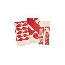 House Industries Red Towel Set - Heath Ceramics