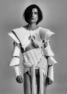 Sculptural Fashion with bold contours; avant garde futuristic fashion // Ph. Saty + Pratha