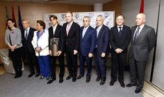 El President Alberto Fabra en la entrega del 'Premio Samaranch' al tenista David Ferrer