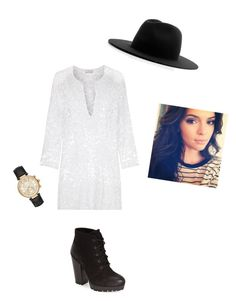 """Untitled #27"" by caroline-speights on Polyvore featuring Miguelina, Steve Madden, Études and Michael Kors"
