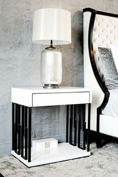 Contemporary End & Night Table from Aguirre Design Inc: