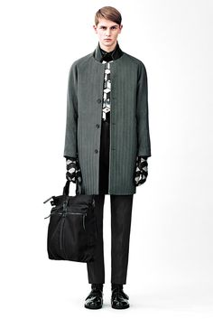 [Christopher Kane]: accessories — man bags and patterned gloves