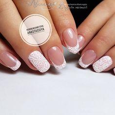 Image may contain: one or more people and closeup French Nail Designs, Nail Art Designs, Diy Nails At Home, Colour Tip Nails, How To Grow Nails, Girls Nails, Homecoming Nails, Fall Nail Colors, French Nails