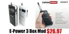 E-Power 3 Box Mod $26.97 - http://vapingcheap.com/e-power-3-box-mod/