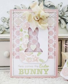 Easter Bunny Card by Melissa Phillips for Papertrey Ink (February 2013)