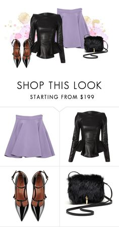 """""""Peplum top"""" by hessazemammi ❤ liked on Polyvore featuring Miu Miu, Plein Sud, RED Valentino and Elizabeth and James"""