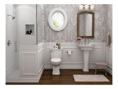Bathroom decor for the master bathroom remodel. Learn bathroom organization, bathroom decor suggestions, bathroom tile suggestions, master bathroom paint colors, and much more. Downstairs Bathroom, Bathroom Renos, Bathroom Faucets, Condo Bathroom, Relaxing Bathroom, Wainscoting Bathroom, Neutral Bathroom, Bathroom Cleaning, Stone Bathroom