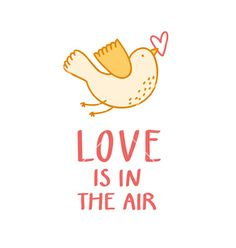 Love is in the air vector - by stolenpencil on VectorStock®