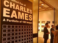 "#Eames exhibition ""The Golden Eye of Charles Eames"""