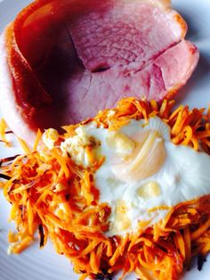 Sweet Potato Hash and Gammon (Healthy Ham, Chip and Eggs)