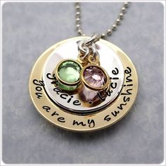 Hand Stamped Jewelry - You Are My Sunshine -Personalized