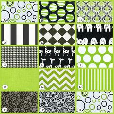 1000 images about lime green and black baby room on - Black and lime green bedding ...