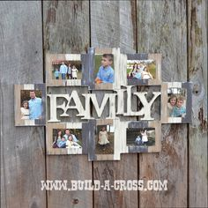 Painted example of one of our frames! Can be purchased unfinished at www.build-a-cross.com #buildacross #paintinginspo #DIYproject #pictureframe #decoration #familypictures