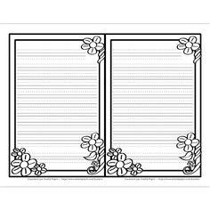 Fichier PDF téléchargeable En noir et blanc seulement 3 pages Ce fichier contient 2 gabarits/page pour intérieur de carte de fête des Mères (8.5 x 11 ouverte). Choisissez entre des lignes trottoirs, des lignes doubles et des lignes simples en fonction de votre niveau.